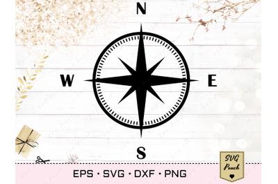 Nautical compass SVG
