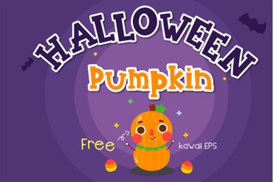Halloween pumpkin Handwritten - cute kid font Kawaii style!