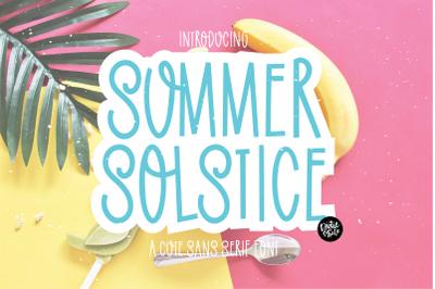 SUMMER SOLSTICE a Cute Sans Serif Font