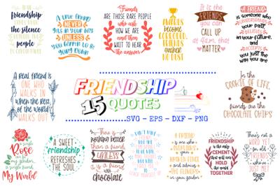 15 Friendship Quotes Bundle