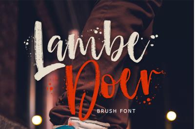 LambeDoer Brush Font