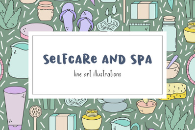 Selfcare and Spa illustration pack.