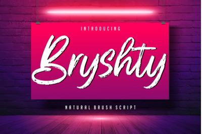 Bryshty Natural Brush Script