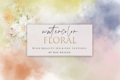 Watercolor Flowers Backgrounds