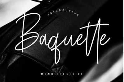 Baquette Monoline Script