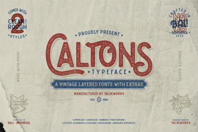 Caltons Typeface With Extra Bonus