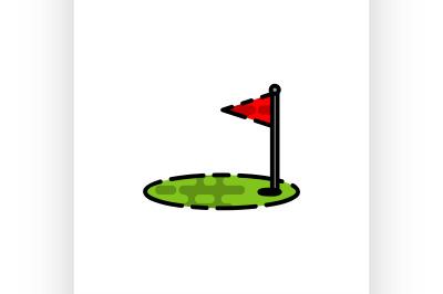 Golf flat icon