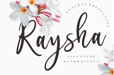 Raysha Signature Handwritten