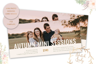 PSD Photo Session Card Template #68