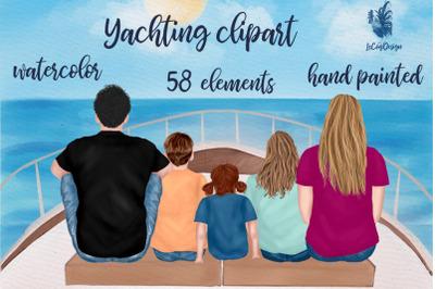Family clipart Vacation clipart Yacht Sailing clipart Mug