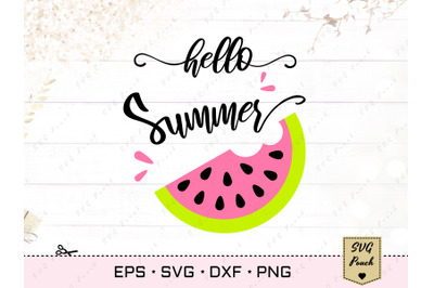 Hello Summer Watermelon SVG