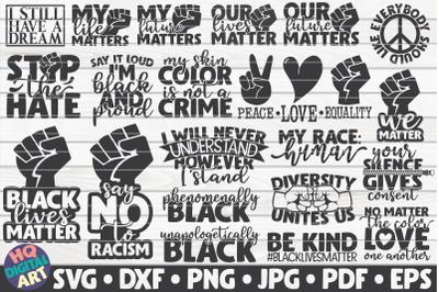 Black Lives Matter SVG Bundle | 21 designs
