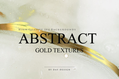 Abstract Alcohol Ink Gold Backgrounds