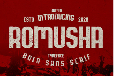 Romusha Bold Sans Serif