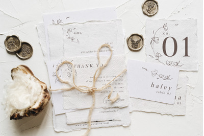 Minimalist Floral Wedding Suite