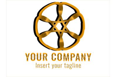 Logo Gradation Icon the wheel
