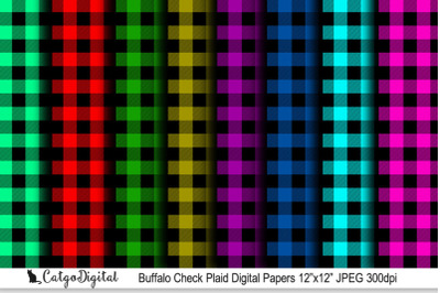 "Buffalo Check Plaid Paper Pack 12x12"" JPEG"