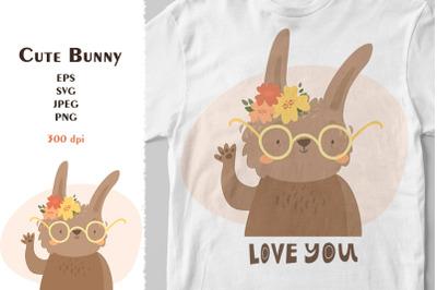 Cute bunny  print