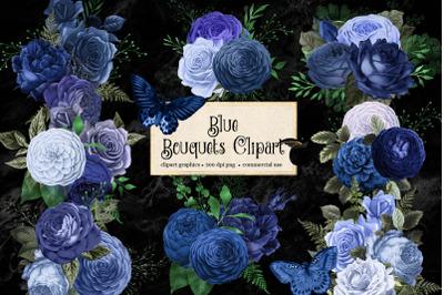 Blue Bouquets Clipart