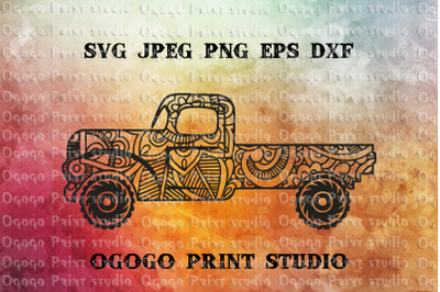 Truck Svg, Zentangle SVG, Car svg, Mandala svg, Cricut file