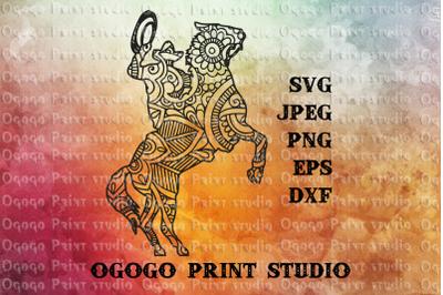 Cowboy SVG, Zentangle SVG, Wild svg, Mandala svg, American