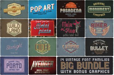 14 Font Families Bundle