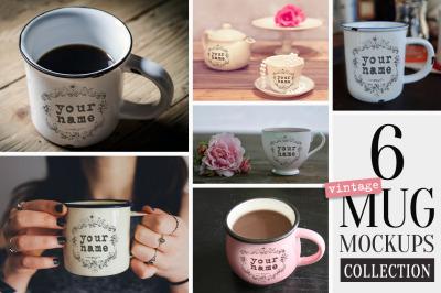Vintage Mug Mockups