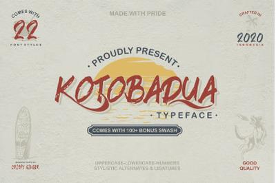 Kotoba Dua - 22 Font styles and 150 Swashes