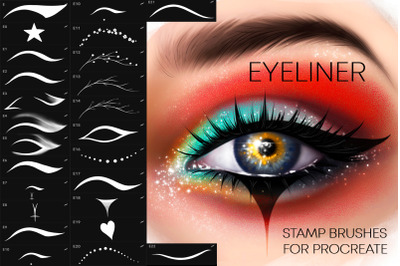 Procreate Eyeliner brushes Makeup