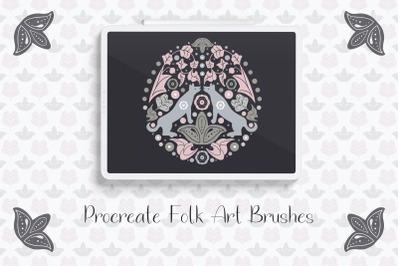 Procreate Folk Art Brushes - Stamp Brushes