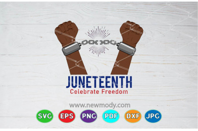 Juneteenth Celebrate Freedom SVG- Broken Handcuffs Svg - Stop racism