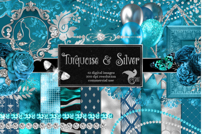 Turquoise and Silver Graphics
