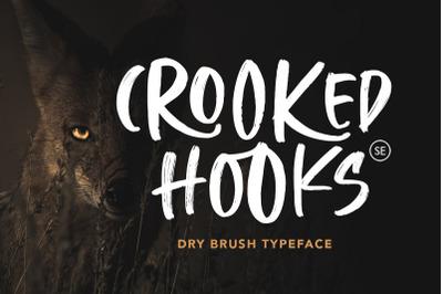 Crooked Hooks - Dry Brush Font