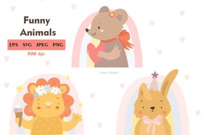 Funny animals print