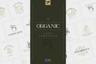22 Organic Logo Templates