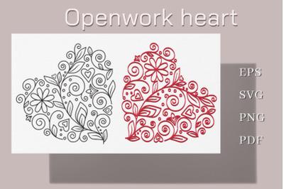 Openwork heart