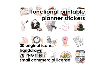 Printable functional planner stickers Printable planning icons, Planne