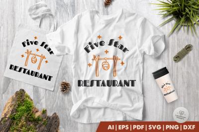 Camping SVG | Five Strar Restaurant SVG | Camp SVG