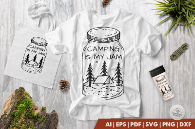 Camping SVG | Camping is My Jam SVG | Camp SVG