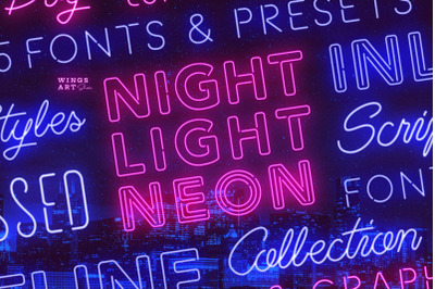 The Neon Font Collection - Script and Sans Serif