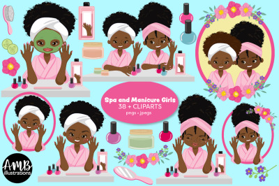 Afro girls spa and manicure AMB-2796