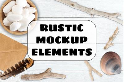 Rustic Mock Up Elements