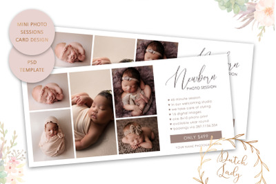 PSD Photo Session Card Template #69