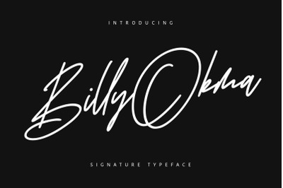 Billy Okma Signature Font