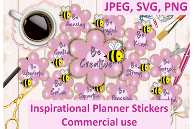 Planner Stickers SVG, PNG and JPEG