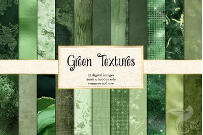 Green Textures Digital Paper