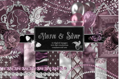 Mauve and Silver Graphics