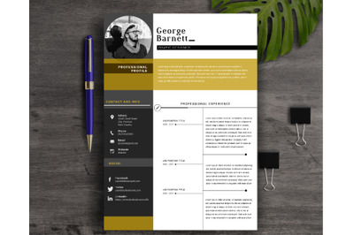 Resume Template 2 Page | CV Template