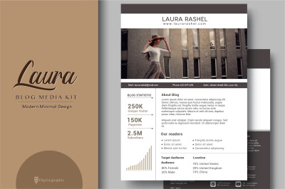 Laura - Blog Media Kit 3 page