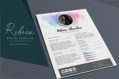 "Resume Template - ""Rebeca"""